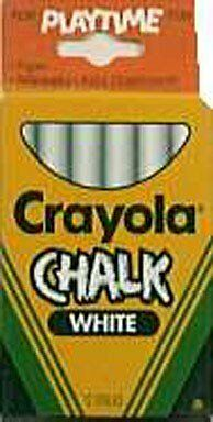 Crayola Chalk For Blackboards And Paper White
