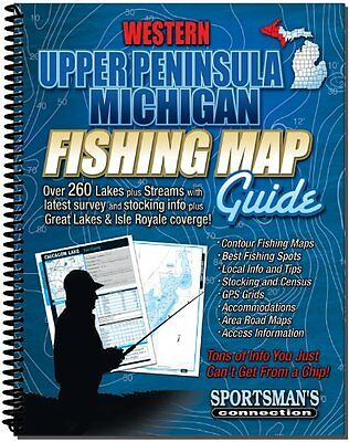 Western Upper Peninsula Michigan Fishing Map Guide