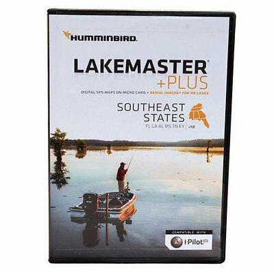 Humminbird Lakemaster Southeast States Contour Electronic Map, Black