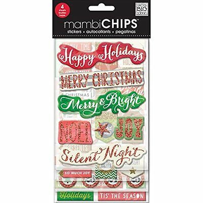 Me and My Big Ideas CBVX-42 Mambi Chips Holiday Tags and Numbers Scrapbooki