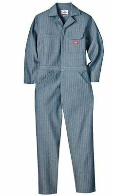 Dickies Men's Long Sleeve Cotton Coverall, Fisher Stripe, 2X Tall