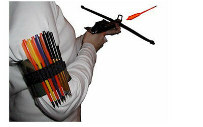 Pistol arrow crossbow QUIVER, Right, Left handed holds up to 15 bolts