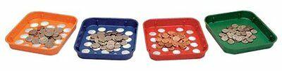 MMF Industries Speed Sort Coin Sorting Trays, 4 Color-Coded Trays for Penni