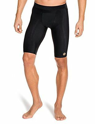 SKINS Men's A400 Compression Half Tights, Black, Small