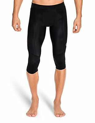 SKINS Men's A400 Compression 3/4 Tights, Black, Large