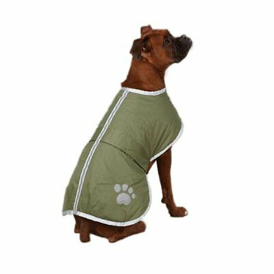 Zack & Zoey Polyester Nor'easter Dog Blanket Coat, X-Small, Chive