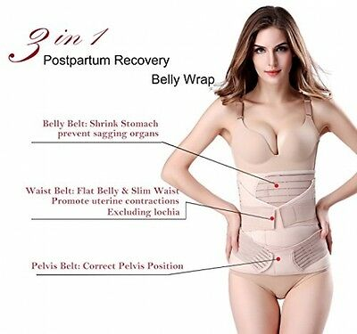 3 In 1 Breathable Elastic Postpartum Support - Recover Belly/Waist/Hip Belt For