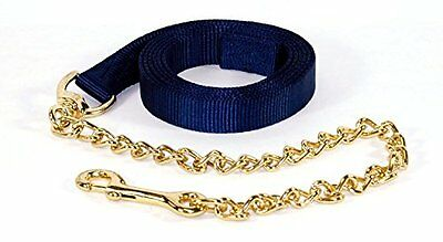 Hamilton 7-Feet Single Thick 1-Inch Nylon Horse Lead with 24-Inch Chain wit