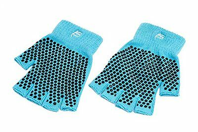 ProSource Non-Slip Yoga Gloves, Aqua
