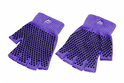 ProSource Non-Slip Yoga Gloves, Purple