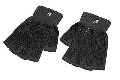 ProSource Non-Slip Yoga Gloves, Black