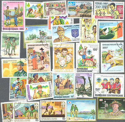 Scouts & Scouting collection 100 all different stamps