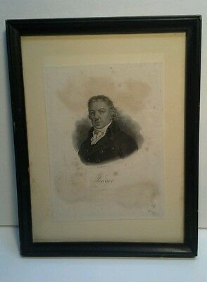 1800s Doctor Jenner /Small Pox Vaccine Historic Engraving Framed Antique Print