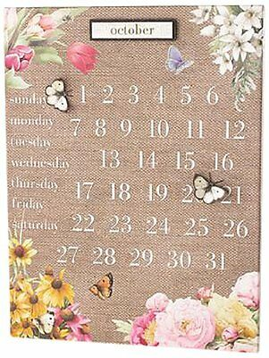 Demdaco Nature's Journey Perpetual Calendar with Butterfly Magnets