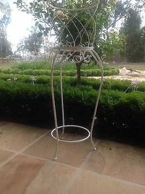Tall Vintage French Provincial Wire Garden Pot Stand