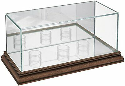 MLB Triple Baseball Glass Display Case, Walnut