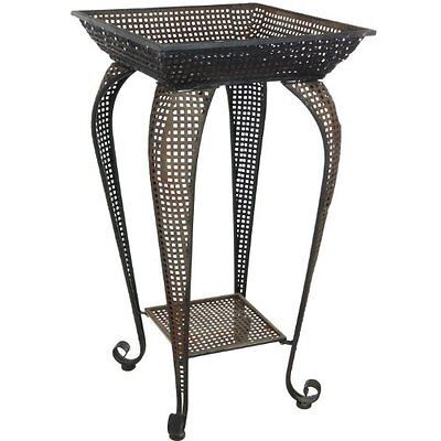 Oriental Furniture Perforated Square Iron Display Stand