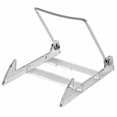 Gibson Holders 2PL Display Stand with Clear Base, Medium, White, 12-Pack