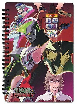 Tiger & Bunny Tiger, Bunny, and Blue Rose Notebook
