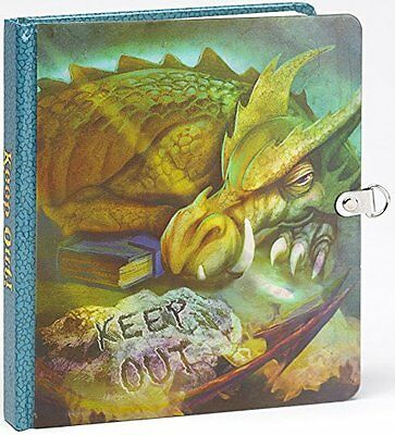 Peaceable Kingdom / Keep Out! Dragon Picture-Changing Cover Lock & Key Diar
