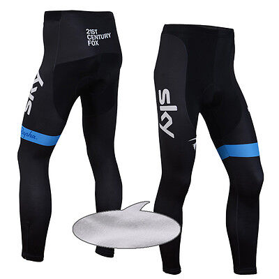 Winter Fleece Cycling Pants Bike Tights Bicycle Trousers Mens Sports Riding Wear