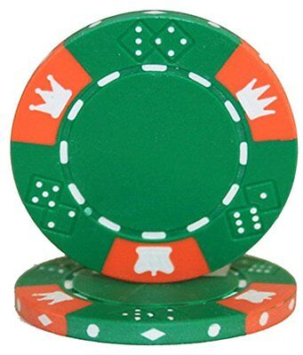 Brybelly Holdings CPCD-GREEN-25 Roll of 25 - Crown & Dice 3 Tone 14 gram -
