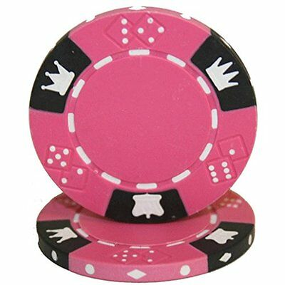 Brybelly Holdings CPCD-PINK-25 Roll of 25 - Crown & Dice 3 Tone 14 gram - P