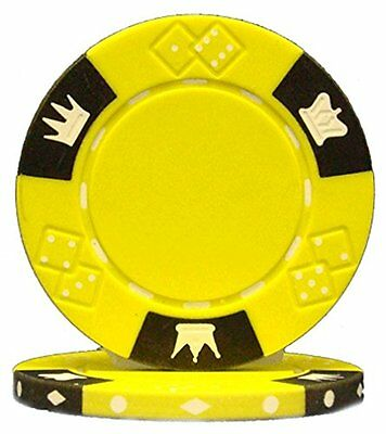 Brybelly Holdings CPCD-YELLOW-25 Roll of 25 - Crown & Dice 3 Tone 14 gram -