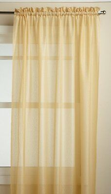 Lorraine Home Fashions Reverie 60-inch x 72-inch Tailored Panel, Gold