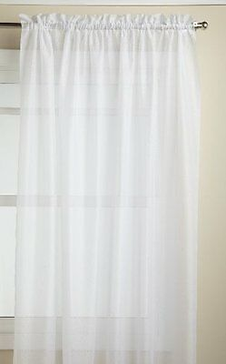 Lorraine Home Fashions Reverie 60-inch x 72-inch Tailored Panel, White