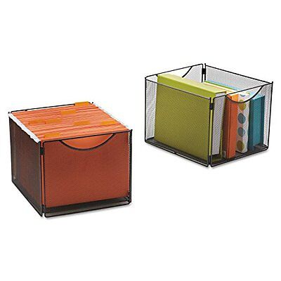 Safco Products Onyx Mesh Cube Bins for Collapsible Cubes, Black, 2173BL