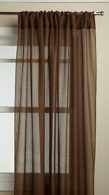 Lorraine Home Fashions Reverie 60-inch x 72-inch Tailored Panel, Chocolate