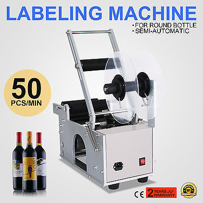 MT-50 Semi-Automatic Round Bottle Labeling Machine Printer With Date Power-Save