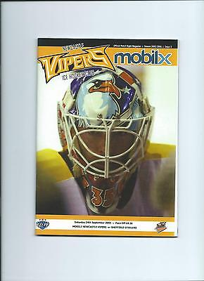 05/06  Newcastle Vipers v Sheffield Steelers  sept
