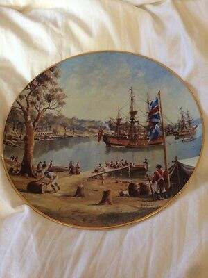 Collectors Plate.... Ships Of The First Fleet