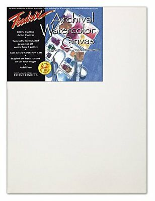 Fredrix 12 by 16-Inch Stretched Watercolor Canvas