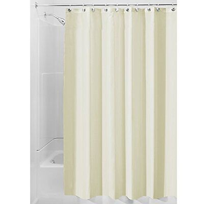 InterDesign Mildew-Free Water-Repellent Fabric Shower Curtain, 72-Inch by 7