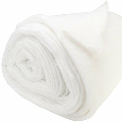 "Polyester Batting Traditional Loft 8oz Per Yard-Double Rolled 100""X20 Yards"