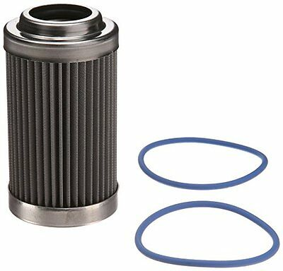"Fuelab 71802 3"" 40 Micron Stainless Steel Filter Element with 2 Ring"