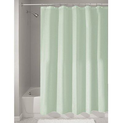 InterDesign 72-Inch-by-72-Inch Fabric Waterproof Shower Curtain Liner, Seaf