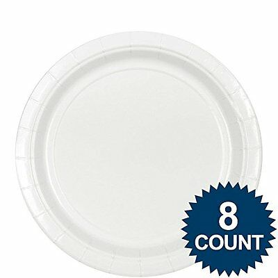 plate 9 inches frosty white