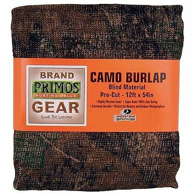 Primos Camo Burlap Blind Material - Pre-Cut Mossy Oak New Break-Up (12-Feet