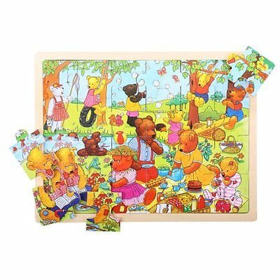 Bigjigs Toys BJ746 Tray Puzzle Teddy's Picnic