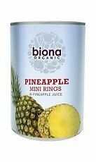 Biona Organic Mini Pineapple Rings In Juice 425g