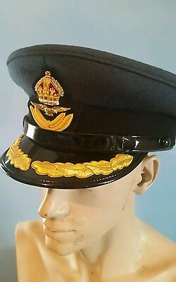 RAF officer group captain peak cap with badge new size 60 last one