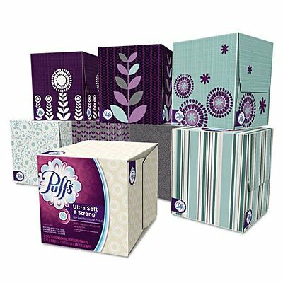 Puffs Ultra Soft & Strong Facial Tissues; 1344 Count; 24 Cube Boxes (56 Tis