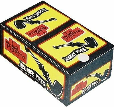 Candy Crate Licorice Pipes, Black, 60 Count
