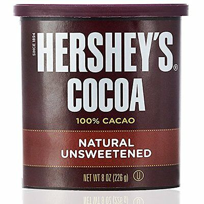 Hershey's Cocoa, Unsweetened, 8-Ounce Container (Pack of 12)