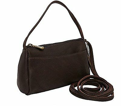 David King & Co. Top Zip Mini Bag 501, Cafe, One Size