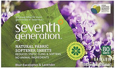 Seventh Generation Natural Fabric Softener Sheets Blue Eucalyptus and Laven